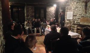 Rencontre à la maison natale de Saint Louis Marie de Monfort avec les monfortains.